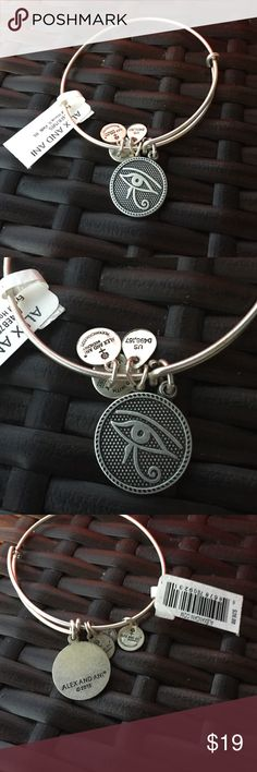 Alex and Ani bracelet Alex and Ani silver eye of horus bracelet. New with retail tags Alex & Ani Jewelry Bracelets