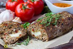 Ρολό κιμά με γραβιέρα και ντομάτες - gourmed.gr