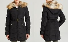 Laundry by Shelli Segal Coat - Windbreaker with Faux Fur Collar