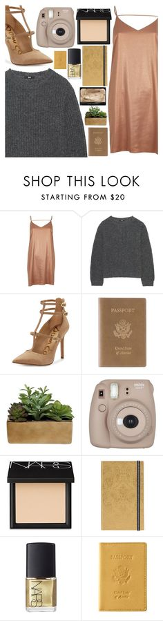 """K is for knitted sweaters"" by floralandmay ❤ liked on Polyvore featuring River Island, Uniqlo, Sam Edelman, Royce Leather, Threshold, Fujifilm, NARS Cosmetics and Christian Lacroix"