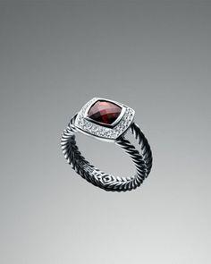January/Oh David!!  Garnet Petite Albion Ring by David Yurman at Neiman Marcus.  $650.00