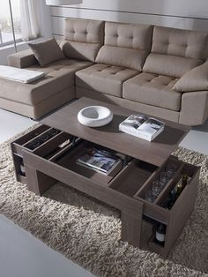 Different Coffee Table Designs - Get a Nice Looking Cheap Coffee Table to Spice Up Your Space - Life ideas Centre Table Design, Sofa Table Design, Coffee Table Design, Diy Coffee Table, Coffee Table With Storage, Modern Coffee Tables, Centre Table Living Room, Table Decor Living Room, Living Room Sofa Design