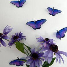 304d0fa65 Purple natural butterflies,butterfly 3d wall stickers Flower Pot Home  Accessories bedroom,garden, bedroom,living room,kitchen,wall art, vase