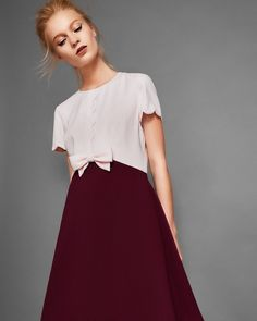 cf1631798a9e 220 Best Burgundy and gold images in 2019 | Midi dresses, Dress ...