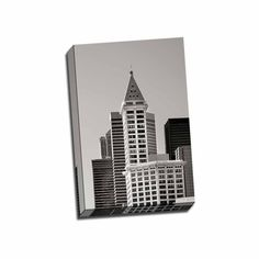 Picture It on Canvas Smith Tower BW 16-inch x 24-inch Wrapped Canvas