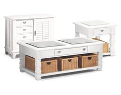The Plantation Cove White Collection | Value City Furniture