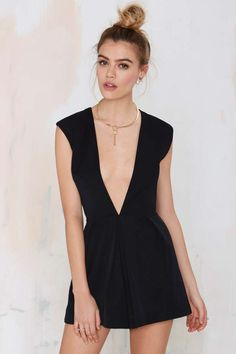 Nasty Gal In Deep Romper - Black | Shop Clothes at Nasty Gal!
