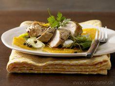 Hähnchenbrust auf Orangenscheiben - smarter - mit Lauch und grünem Pfeffer. Kalorien: 330 Kcal   Zeit: 35 min. #recipes #fall
