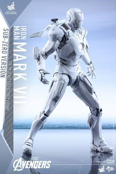 This Limited Edition Hot Toys Iron Man Mark VII (Sub-Zero Version) collectible is inspired by Robert Downey Jr's character from Marvel's The Avengers. Marvel Heroes, Marvel Characters, Marvel Avengers, Iron Man Wallpaper, Marvel Wallpaper, Marvel Legends, All Iron Man Suits, Hot Toys Iron Man, Iron Man Art