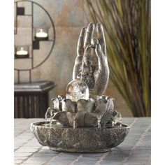 Inside sitting Buddha statue waterfall table water fountain with LED - The Home DepotPure Garden in. Inside sitting Buddha statue waterfall table water fountain with LED lightsSource China water Indoor Tabletop Water Fountain, Indoor Wall Fountains, Table Fountain, Indoor Water Garden, Diy Fountain, Garden Fountains, Outdoor Fountains, Fountains For Sale, Small Fountains
