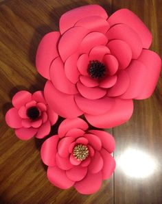 804 best flowers made of paper images on pinterest paper flower set of 3 large paper flowers flowers are created from a heavy quality card stock paper mightylinksfo
