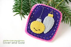 Silver and Gold Felt Ornament by wildolive