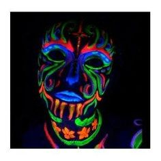 HOW SICK IS THIS-NEXT RAVE I'M GOIN IN!--->> Amazon.com: Black Light Reactive Neon Makeup with Black Light Pendant (Yellow): Everything Else