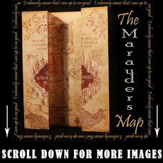 Harry Potter Marauders Map of Hogwarts Castle Beautiful quality & Unique to Us!! | eBay