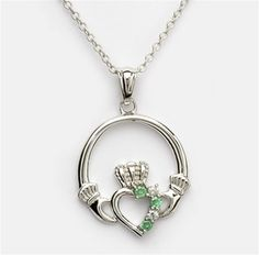 Ladies Silver Claddagh Pendant