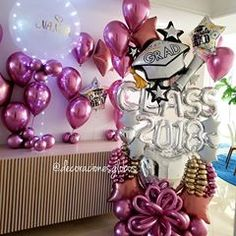 Congratulations to all Graduandos Especially to Nanita, her mother surprised her . Love Balloon, Balloon Gift, Balloon Shapes, Graduation Balloons, Graduation Decorations, Birthday Decorations, Decoration Party, Balloon Arrangements, Balloon Decorations