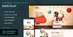 Kids Play - Kindergarten WordPress Theme #wordpress #kids #colourful • Download theme ➝ https://themeforest.net/item/kids-play-kindergarten-wordpress-theme/17448742?ref=pxcr