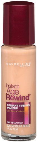 Maybelline New York Instant Age Rewind Radiant Firming Makeup Medium Beige 300 1 Fluid Ounce Pack of 2 *** Click on the image for additional details.