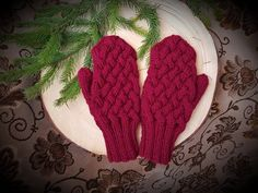 Wool Mittens / Warm Winter Mittens / Women's Mittens / Wool Mittens /  gifts /handmade mittens/ soft and warm mittens/ knitted mittens/ warm Dark Red, Mittens, Winter, Gloves, Trending Outfits, Unique Jewelry, Handmade Gifts, Warm, Knitting