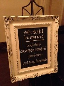 DIY Chalkboard Bar Sign