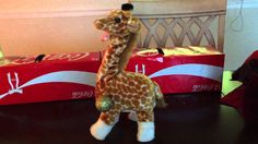Horrifying Toy Giraffe Shrieks and Squeals Wildly Before Walking Off the Edge of a Table