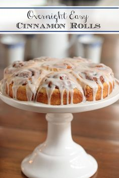 Make these delicious, easy cinnamon rolls at night (20 minutes) and wake your guests to a heavenly aroma no one will be able to resist! #easycinnamonrolls #overnightcinnamonrolls #breakfast Brunch Recipes, Breakfast Recipes, Dessert Recipes, Sweet Breakfast, Breakfast Dishes, Brunch Ideas, Breakfast Time, Breakfast Ideas, Banana Coffee Cakes