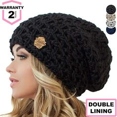 87f3b79db4a Braxton Slouchy Beanie for Women - Ski Cable Knit Winter Warm Large Hat -  Wool Snow