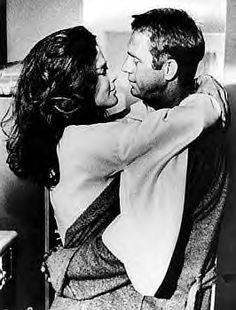 Ali MacGraw & Steve McQueen, his second marriage.