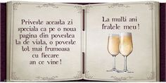La multi ani fratele meu! 30th Birthday, Birthday Wishes, Nasa, Diy And Crafts, Alcoholic Drinks, Birthdays, Place Card Holders, Words, Quotes
