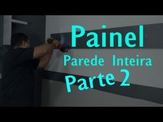 Como fazer moveis Planejados Painel na parede inteira Parte 2 - YouTube Youtube, Wood Counter, Divider Walls, Closet Solutions, Offices, Pintura, Places, Youtubers, Youtube Movies