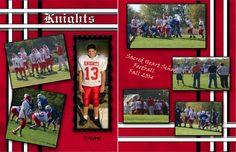 photo scrapbook, scrapbook layouts, scrapbook footbal, footbal scrapbook