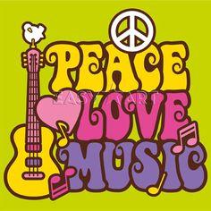 music posters | Peace, Love, Music, Design Team Poster & Kunstdrucke bei Easyart.de