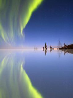 Aurora Mirrored - Sunshine, Alaska, USA