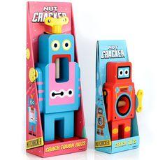 wooden robot nutcrackers by matthias zschaler for suck uk - designboom | architecture & design magazine