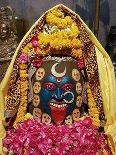 Mahakali in ujjain Shri Mahakaal Kali Shiva, Kali Mata, Jay Maa Kali, Shiva Art, Shiva Shakti, Krishna Art, Lord Shiva, Indian Goddess Kali, Indian Gods