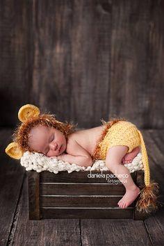 Baby Boy Hat NEWBORN LION Cub Hat CROCHET by CrochetMeSomethin, $17.99