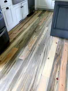 Received this picture today from a customer in Stratford Connecticut. Shown here is our pre-finished Beetle Kill Pine flooring. Pine Wood Flooring, Reclaimed Wood Floors, Pine Floors, Stone Flooring, Hardwood Floors, Flooring Ideas, Ashley Furniture Outlet, Pine Kitchen Cabinets, Pine Furniture