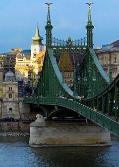 Liberty Bridge, Budapest, Hungary Budapest City, Budapest Hungary, Liberty Bridge, Beautiful Places In The World, Hawaii Travel, Tower Bridge, Homeland, Prague, Around The Worlds