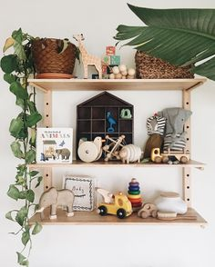 a pleasant little spot in the nursery. (ignore the sad plant!) #bitteshop #calivintagehome