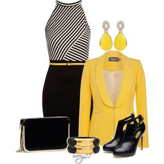 Black & Gold, created by traceyj12 on Polyvore