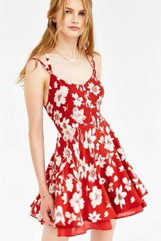 Floral Print Flare Dress – Dadaism Fashion