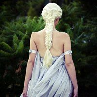 Dany from Game of Thrones- if I had a long thick mane like that, I'd braid like crazy too!