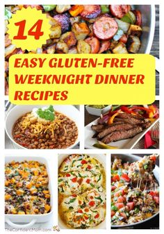 Here are 14 easy gluten-free weeknight dinner recipes to fill your menu planner during the weeks when life is crazy. Here are 14 easy gluten-free weeknight dinner recipes to fill your menu planner during the weeks when life is crazy. Gluten Free Meal Plan, Free Meal Plans, Gluten Free Recipes For Dinner, Easy Dinner Recipes, Easy Gluten Free Meals, Gluten Free Recipes Hamburger, Easy Gf Dinner, Gluten Free Lunch Ideas, Easy Gluten Free Recipes