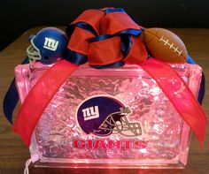 Check out this item in my Etsy shop https://www.etsy.com/listing/202733029/new-york-giants-lighted-glass-block