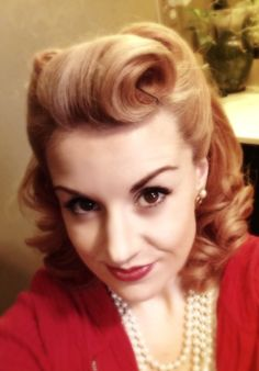 Another retro pin up hair style
