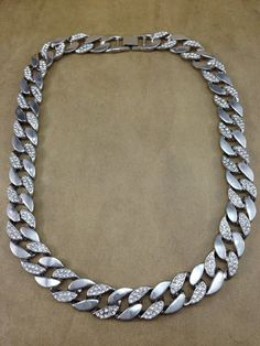 Gorgeous Vintage 18 Necklace Thick Silver by ParadiseVintageJewel