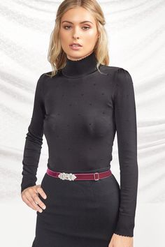 detail detail_black Afternoon Delight, Polo Neck, Work Wardrobe, New Work, High Neck Dress, Turtle Neck, Detail, Clothes For Women, Sweaters