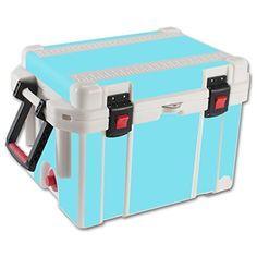 MightySkins Protective Vinyl Skin Decal for Pelican 35 qt Cooler wrap cover sticker skins Solid Baby Blue * Be sure to check out this awesome product.(This is an Amazon affiliate link and I receive a commission for the sales)