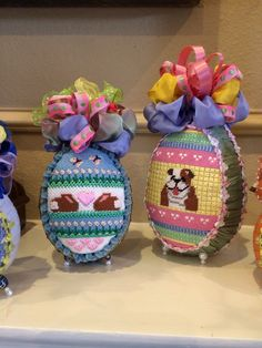 Easter Eggs, my favs! Various needlepoint artists. Stitched by D. Rizos
