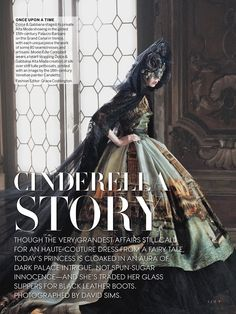 Cinderella Story I US Vogue I September 2013 I Model: Edie Campbell I Editor: Grace Coddington I Photographer: David Sims.